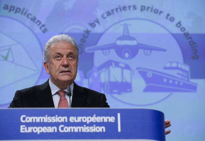 Еврокомисарят по миграция, вътрешни работи и гражданство Димитрис Аврамопулос, ©EPA/БГНЕС