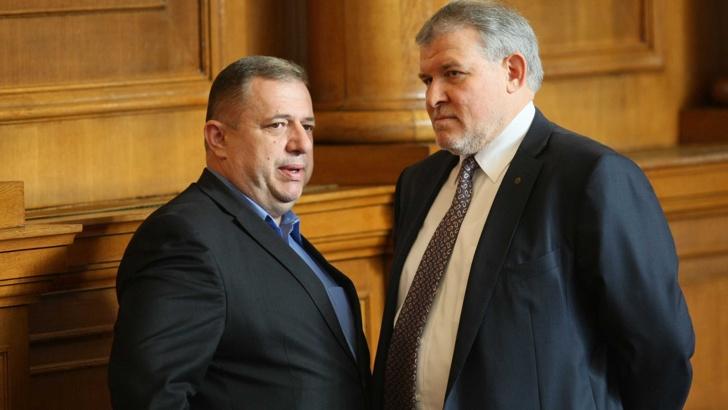 Борислав Миланов (вляво) и съпартиецът му Румен Христов