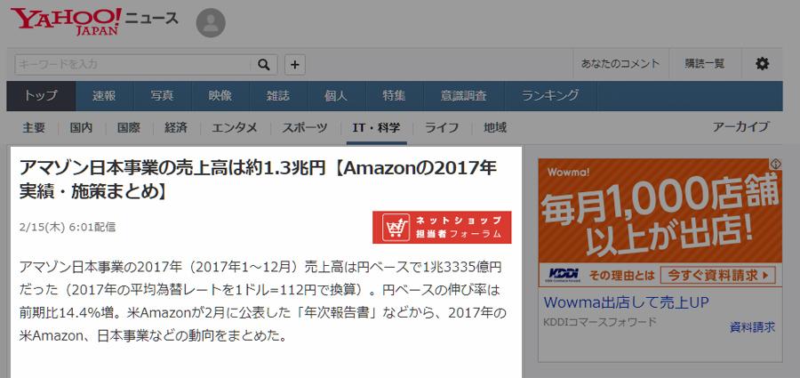 Amazon売上高