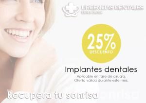 Oferta del mes en implantes dentales en Clínica dental Urgencias Dentales Mallorca