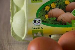 Eierkarton mit EU Biosiegel