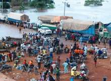 Commuters Stranded As Flood Tooke Over Ajaokuta-Lokoja Road