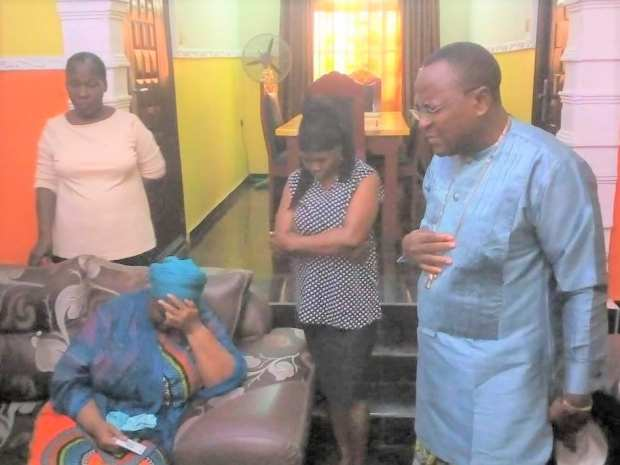 FRANCIS E WAIVE VISITS WIDOW OF LATE ARCHBISHOP ISAAC ETIDIA - AMBROSE GERMANY