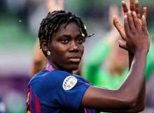 Asisat Oshoala the Nigeria women's national team captain is among the Barcelona players who have accepted to take a seventy percent pay cut