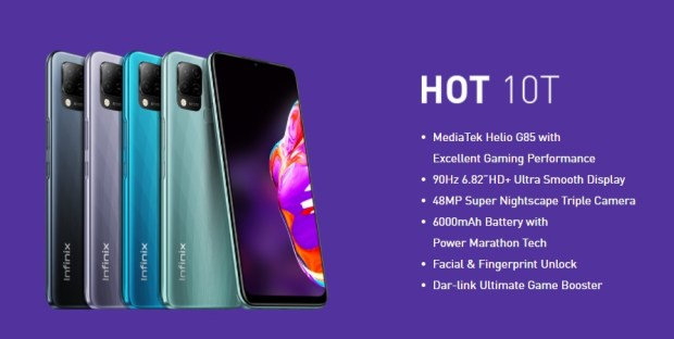 infinix launches hot 10t ultimate smartphone