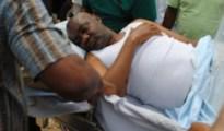 Senate Magnus Abe being-stretchered-into-an-ambulance-on-Sunday