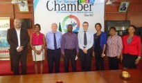 Members of the Belgium/France delegation posing for photograph with PHCCIMA member, Florence Emereole, DG, Erasmus Chukunda among others during the visit