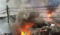 Typical bomb blast scene