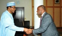 (L-R) Gen Mohammadu Buhari and Hon Rotimi Amaechi