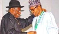 (L-R) President Goodluck Jonathan and Mohammadu Buhari