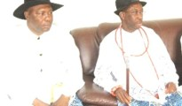 (R-L) Senator Ifeanyi Okowa and his deputy Barr. Kingsley Otuaro