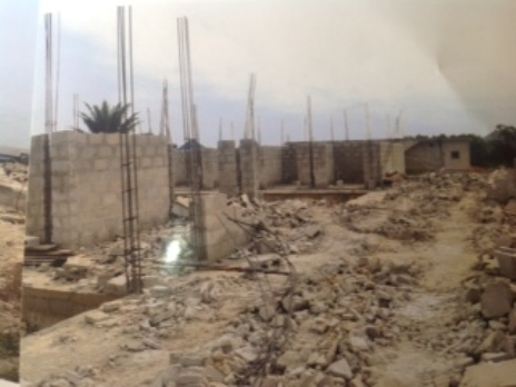Demolished  multi-million Naira building structure