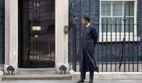 Buhari waiting outside to meet Cameron