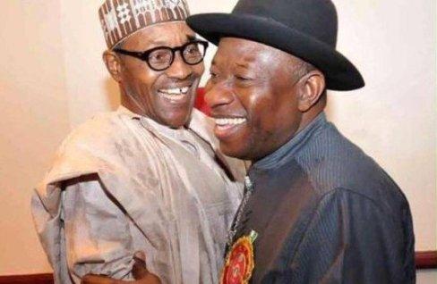 President Muhammadu Buhari (l) and Ex-President Goodluck Jonahan
