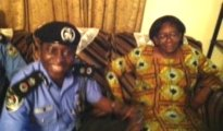 Donu Kogbara with the Rivers CP, Mr Musa Kimo at her PH residence after her release by kidnappers