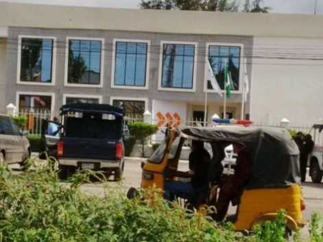 Front view of Access bank, 4th Avenue, where the robbers attacked