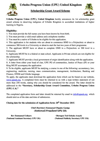 UPU UK Scholarship Award Scheme Advert 2015-page-0