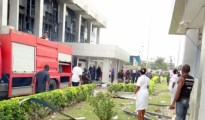 Scene of the explsion at CBN, Calabar,Cross Rivers