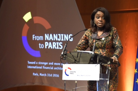 Finance Minister, Mrs. Kemi Adeosun at the G20 Finance Ministers seminar held in Paris Thursday night.