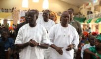 Oshiomhole and Odubu at public function