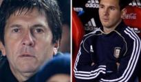 Lionel Messi and his father