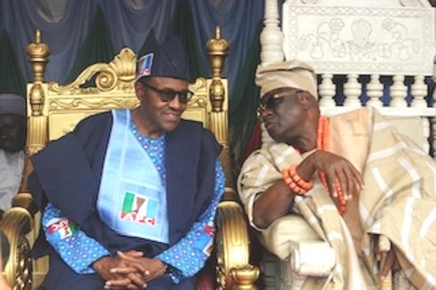 President Muhammadu Buhari and Oba of Lagos Oba Akiolu