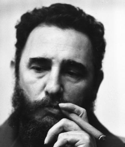 Cuban Leader, Fidel Castro puffing his cherish havannah cigar