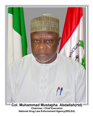 Chairman/Chief Executive of the National Drug Law Enforcement Agency (NDLEA) Col. Muhammad Mustapha Abdallah (retd.)