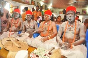 L-R Chief Jonson Barovbe, Chief Simeon Ohwofa, Chief Solomon Edoja and Chief Edore Agba