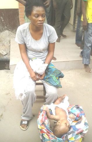 Lagos Task Force Arrest Teenage Mom Who Dumps 4 Months Old Baby Under Oshodi Bridge