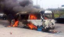Uduaghan bus still flames