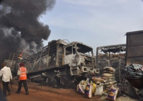 Four Roasted To Death As Two Tankers Explode In Lagos-Ibadan Expressway