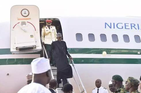 WELCOME BACK PMB: The President is back. He has landed safely in Kaduna and received by Acting Governor Barnabas Yusuf Bala and senior KDSG officials. The government and people of Kaduna State are proud to receive our First Citizen back to his home to face the task of rebuilding Nigeria. Alhamdulillah. Jumaat Mubarak to everyone. ""
