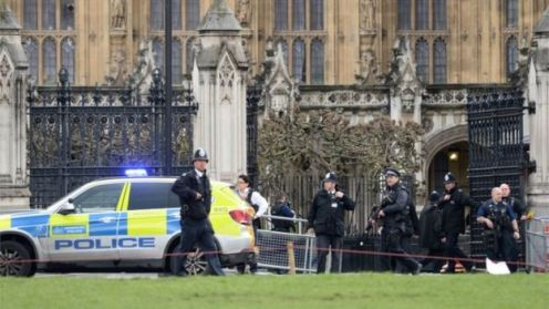 UK Parliament Shooting: May Escapes Death as Attacker  Kills One, Mows Down Pedestrians