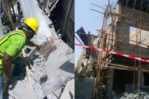 JUST IN: Tw0 Die, Scores Trap As building Collapse In Lekki, Lagos