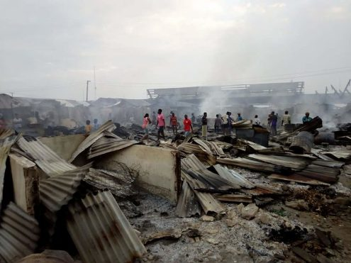 Warri: Fire Guts Ogbe-Ijoh Market Again