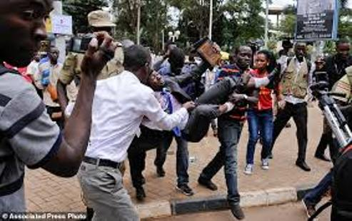 Scores Injured As Police Attached To Delta Govt House  Clash With Protesting Students