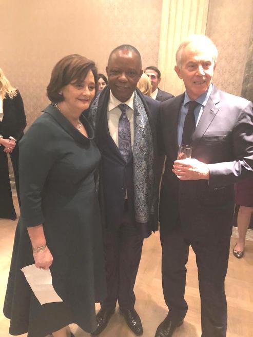 PHOTO NEWS: Tony Blair, Wife Host Nigerian Business Icon, Capt. Hosa Okunbo, Others In London