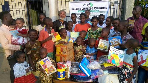 Delta: Malcolm  Omirhobo Foundation Donates To Orem Faith Orphanage, Afiesere