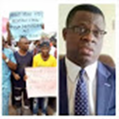 Protesters Demand Removal Of Mike Igini As Akwa-Ibom INEC REC