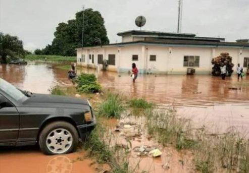 Panic As Flood Sweeps Away Pastor's Two Children In Delta State