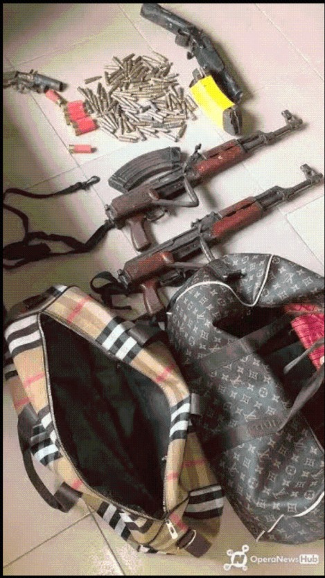 Warri:Two AK-47 Rifles, Bullets Found Inside Vehicle Abandoned By Fleeing Robbers In Udu Road