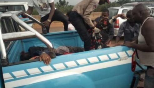 Delta: Three Killed As Car Ram Into Stationary Cement Truck In Sapele