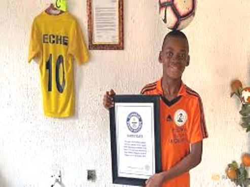 12-Year-Old Warri Boy  Freestyle World Record Holder Hopes For Future In Soccer