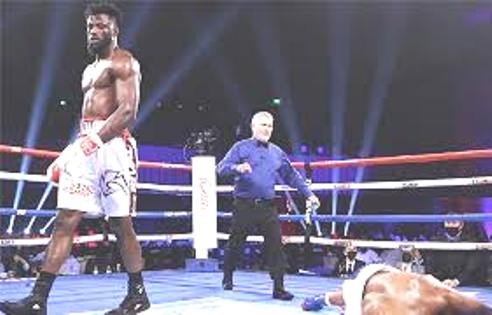 Efe Ajagba Goes Brutal,  Knocks Out Brian Howard In Third Round