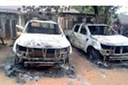 Three Policemen Feared Dead As Unknown Gunmen Burn Police Station In Delta