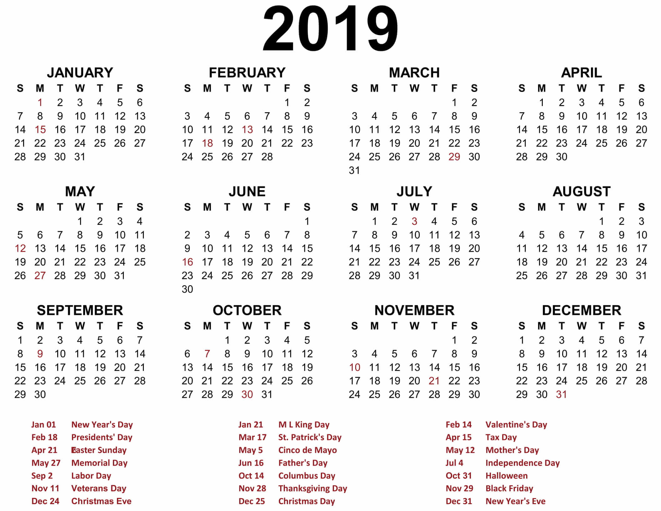 Free Printable Calendar In Word Excel Template