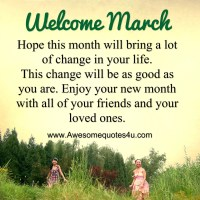Welcome March Images Pictures Photos Wallpapers for Facebook Tumblr - Welcome March Quotes