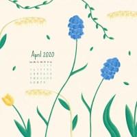 April 2020 Desktop Calendar Wallpaper - iPhone Calendar Wallpaper