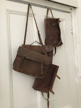 Very old leather bags.